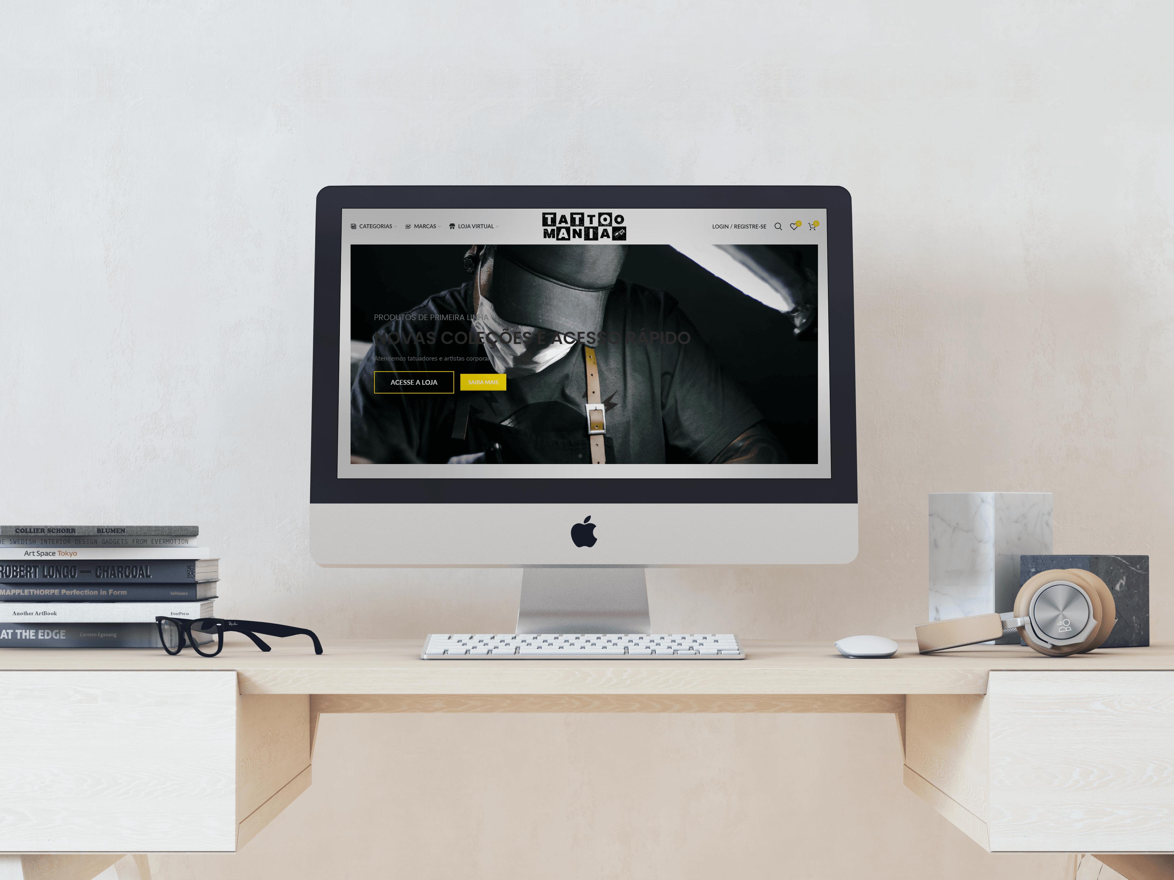 Desenvolvimento de novo Site E-Commerce para Tattoo Mania